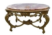 Antique Italian Renaissance Carved Marble Top Coffee Table