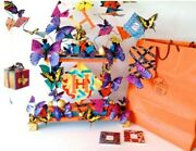 Clock Hermes Butterflies . Artistic Museum Homage To Hermes - Only 1 Limited