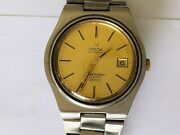 Vintage Omega Seamaster Cosmic 2000 Gold Automatic With 2 Straps Leather And Steel