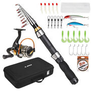 Portable Fishing Rod And Reel Combo Telescopic Fishing Rod Pole Spinning S3m9