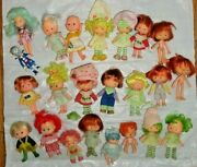 Vintage Strawberry Short Cake Lot Of 22 Dolls 5andrdquo Plus Rares Please See Photos
