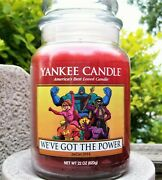 Yankee Candle Jar Con 2014 Weand039ve Got The Power Cranberry Pearlarge 22 Ozrare