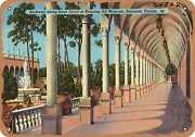 Metal Sign - Florida Postcard - Archway Along Inner Court Of Ringling Art Museu