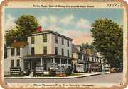 Metal Sign - Maryland Postcard - At The Upper End Of Elkton Marylandand039s Main St