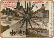 Metal Sign - Massachusetts Postcard - Greetings From The Hub [front]