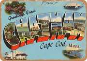 Metal Sign - Massachusetts Postcard - Greetings From Chatham, Cape Cod, Mass.