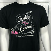 Freddy Cannon Palisades Park Tallahassee New Orleans Vintage Mens T Shirt Size L
