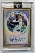 Limited To 1/1 Piece Ichiroand039s Direct Sign 2018 Topps Transcendent Framed