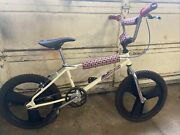 Robinson Rebel Bmx Vintage Bike Bicycle White Complete Lot Gt Fan Mags Dyno Sst