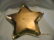 Vintage Shabby Chic Gold Star Candle And Gold Star Holder..2pc Set..sold By Avon