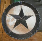Western Texas Star Hand Laced Cowhide 12x12 Table Top Western Home Decor 503