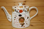Royal Crown Derby Asian Rose 8687 Teapot 5 3/4 With Lid