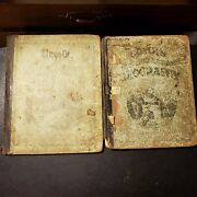 Pair Of Antique Guyot's Intermediate Geography Map School Books 1872 And 1875