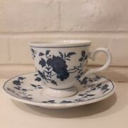 Fine China Of Japan Royal Meissen Pattern Footed Cup 2 7/8t And Saucer Set