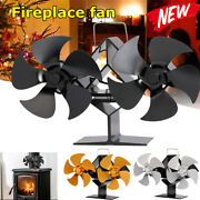 Double-headed 5 And10-blade Fireplace Fan Thermal Ecological Wood Stove Log Burner