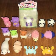 Lot 14 Collectible Japanese Puzzle Erasers Animals Panda Hamster