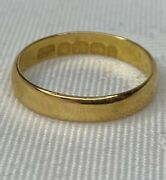 Antique, Solid 22ct Gold Wedding Band Ring 2.3 Grams With Box Edwardian 1901