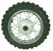 10and039and039 2.5 X 10 Premium Dirt Bike Front Wheel Tire Assembly - Disc Brake