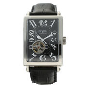 Gevril 5071b Avenue Of America Rectangle Steel 34mm Automatic Menand039s Watch