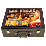 Poker Chips With Wooden Case – Las Vegas Collection – 500 Pieces