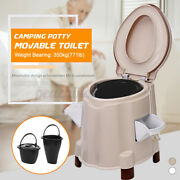 Portable Flush Toilet Seat Bath Potty Commode Outdoor Indoor Travel Camping