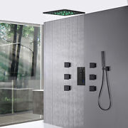 Luxury Thermostatic12 Led Rain Mixer Shower System Combo Set With 6 Body Spray