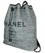 - Sac A Dos Deauville En Tweed Gris - Backpack Canvas Deauville