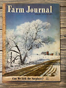 Vintage February 1950 Farm Journal Magazine Can We Lick The Surpluses
