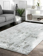 Contemporary Area Rug Grey White Best Quality Carpets Cheapest Floor Décor Rugs