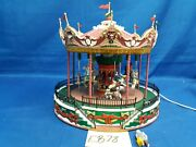 Lemax Village Collection Santa Carousel 34682 As Is Eb78
