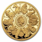 2021 Gb Proof 10 Oz Gold Queenand039s Beasts Collector Box And Coa - Sku232183