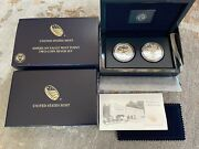 2013-w American Eagle Reverse Proof And Enhanced 2 Coin Silver Set - W/ogp And Coa