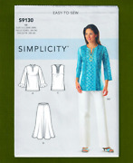 Women's Tunic, Pants And Skirt Sewing Pattern Plus Sizes 20w-28w Simplicity 9130