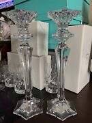 Mikasa 2 Kings Court Candleholders 12 Large And Lovely Mint In Box