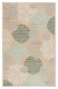 Jaipur Living Wistful Medallion Beige/ Green Area Rug 9and0396x13and0396