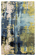 Jaipur Living Matcha Handmade Abstract Blue/ Green Area Rug 8and039x11and039