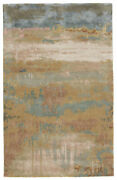 Jaipur Living Benna Handmade Abstract Gold/ Light Blue Area Rug 8and039x11and039