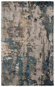 Jaipur Living Segall Handmade Abstract Dark Blue/ Gray Area Rug 8and039x11and039