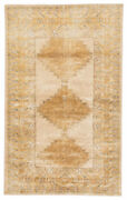 Jaipur Living Enfield Hand-knotted Medallion Gold/ Gray Runner Rug 3and039x12and039