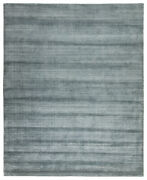 Jaipur Living Bellweather Handmade Solid Gray/ Light Blue Area Rug 5and039x8and039