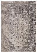 Jaipur Living Isolde Indoor/ Outdoor Medallion Gray/ Ivory Area Rug 9and03910x14and039