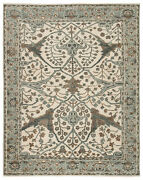 Jaipur Living Slayton Hand-knotted Medallion Ivory/ Light Teal Area Rug 6and039x9and039