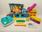 Play-doh Mega Fun Factory 2009 50th Anniversary George Foreman Grill With Extras
