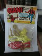 Vintage Joy Toy Giant Cowboys And Indians, Action Figures, Set Of 4, Nip