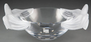 Lalique Clear And Frosted Glass Loriol Bowl 5x13x8.5