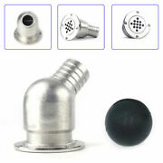 316 Stainless Steel Boat Deck Drain Scupper W/ 40mm Ball For Hose 1-1/2 Marine
