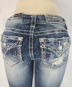 Miss Me Standard Boot Mid Rise Stretch Womenand039s Denim Jeans 28 X 31 Me8551br