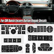 Climate Control Radio Buttons Steering Wheel Window Stickers For Gm  /