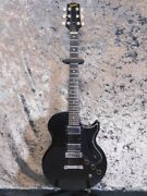 Used 1973 Gibson L6-s Black Electric Guitar Ebony Fb Hh Good Condition W/hsc