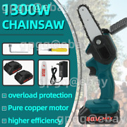 One-hand Saw Cordless Electric Chain Saw Wood Cutter Woodworking + 2 X Battery